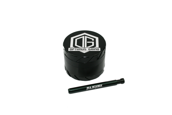 Grinder One-Hitter Pipe Combo Black