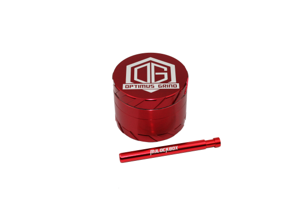 Grinder One-Hitter Pipe Combo Red